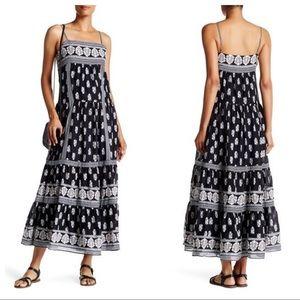 Joie Knightly Print Side Zip Long Maxi Dress